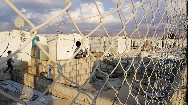 إحدى المخيمات السورية في لبنان