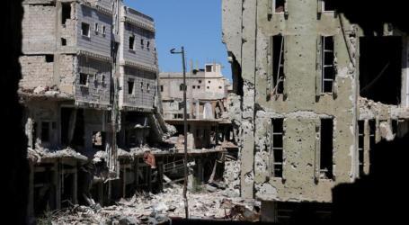 تفجير مبنى المخابرات الجوية في درعا