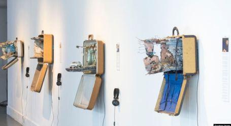 حقائب السفر تتحول الى مجسمات إبداعية تروي قصص السوريين