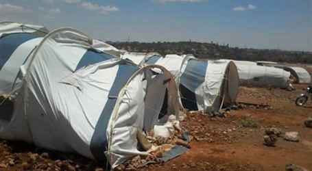 مخيمات إدلب: أضرار جسيمة بسبب العواصف الهوائية في المنطقة