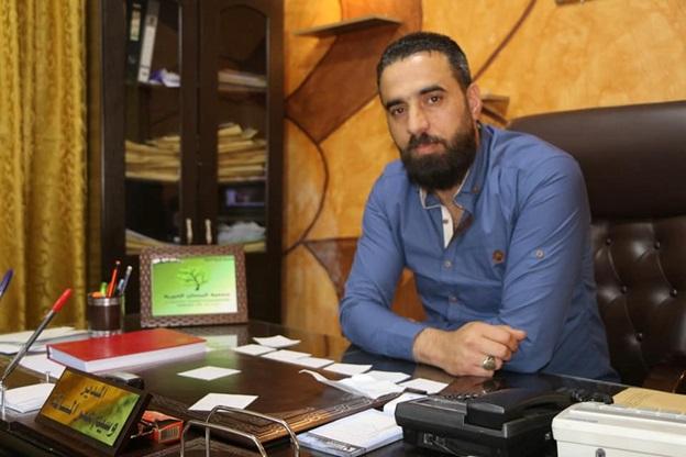 وسيم اعمر المسالمة متزعم ميليشيا لواء العرين في مدينة درعا ومديرفرع جميعة البستان