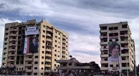 """""""العرين الانسانية"""" تقيم فعالية تقديم المعونات للجرحى فتتحول إلى حفل تأييد للسلطة السورية"""