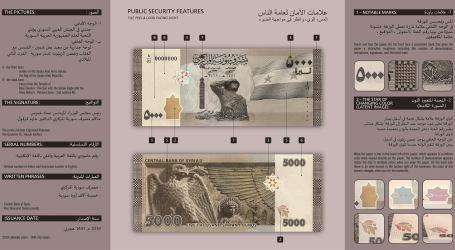 مصرف سوريا المركزي يعلن طرح عملة نقدية من فئة 5000 وسخرية كبيرة حول القرار