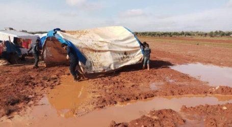 67 ألف نازح تضرروا نتيجة الفيضانات الأخيرة شمال غرب سوريا