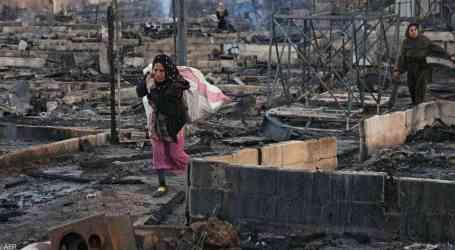 حريق يلتهم مخيم للاجئين السوريين في لبنان ويخلف ضحايا