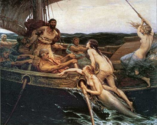 Ulysses and Sirens by Herbert James Draper