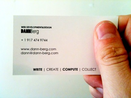 Dann Berg Business Card