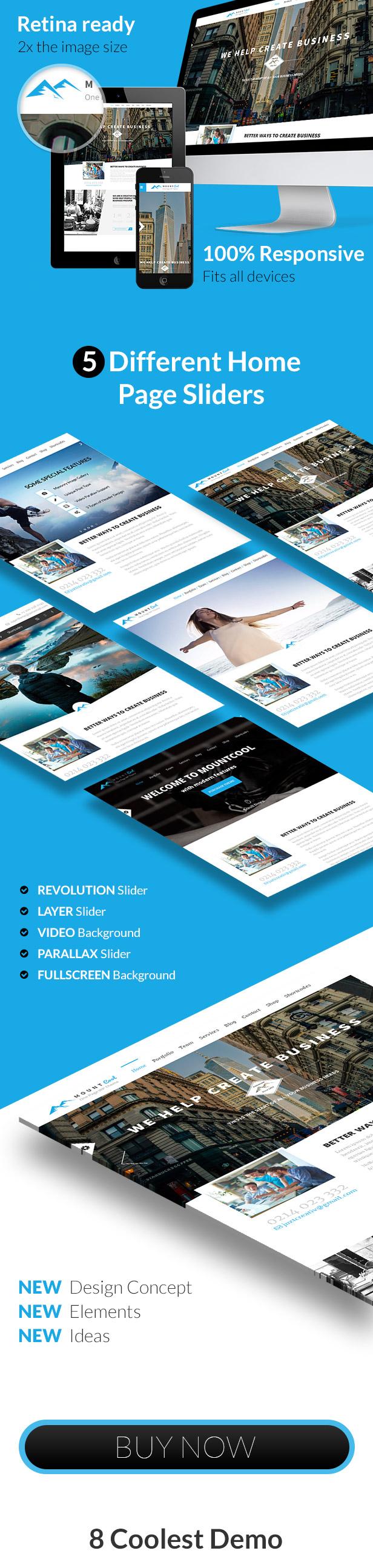 MountCool -  Single Page Portfolio - 1