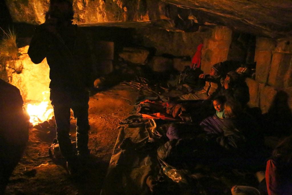 camp-fire-in-the-Inca-cave