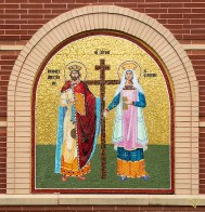 Mosaic of Sts. Constantine & Helen by the Church entrance