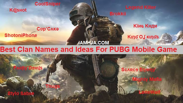 PUBG Names For Boys