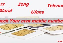 Photo of Check Your own mobile number on Jazz, Warid, Telenor, Zong, Ufone