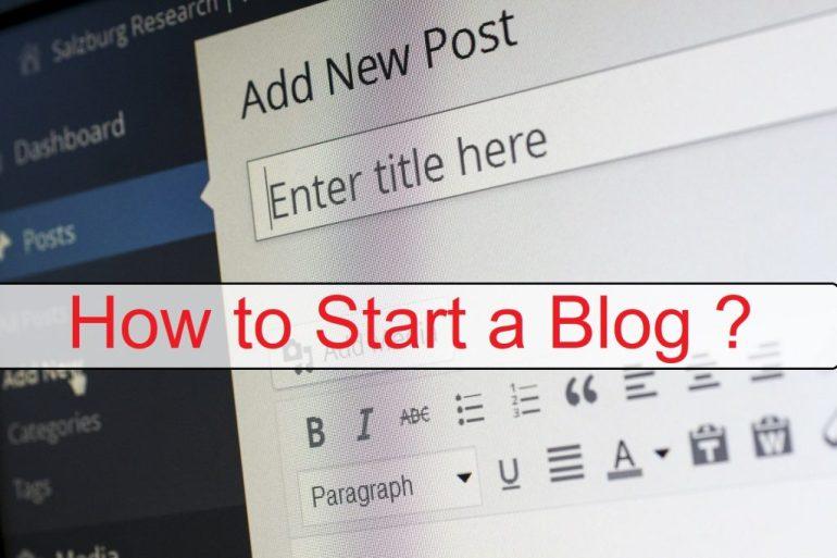 How to Start a Blog - Beginner's Guide to start a Blog/Website 2020 1