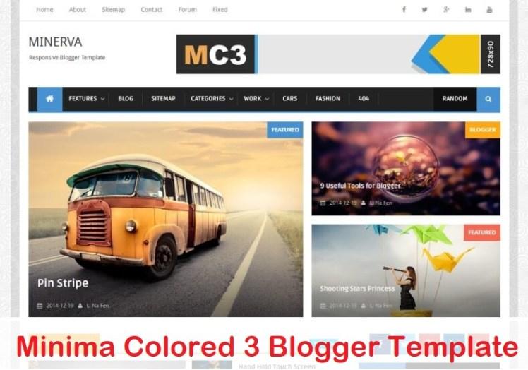 Minima Colored 3 Blogger Template