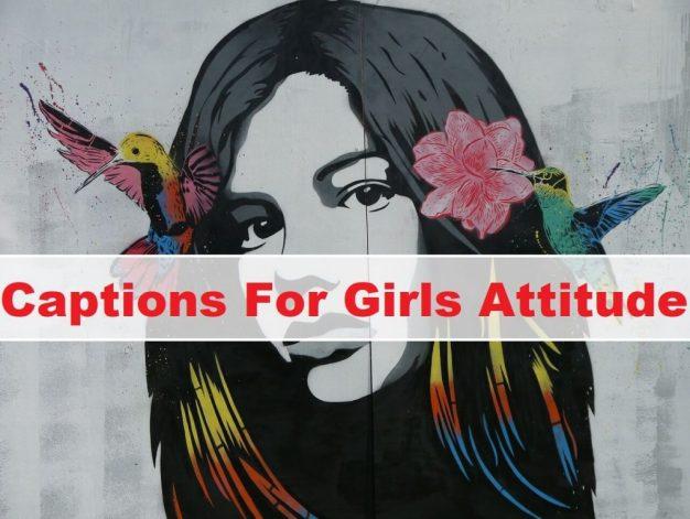 captions for girls attitude