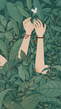 Aesthetic Wallpaper Girl Hand Under Tree