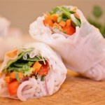 Fresh Spring Rolls with Sesame Peanut Sauce