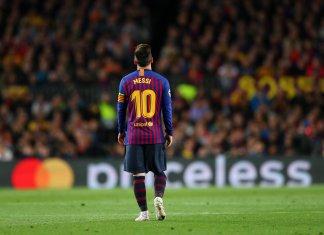 Lionel Messi celebró la goleada de Barcelona