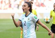 Agustina Barroso celebró el empate de Argentina