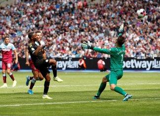 Manchester City goleó a West Ham
