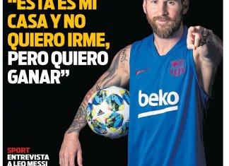 Lionel Messi habló con Sport