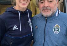 Diego Maradona felicitó a Lucia Guiñazú