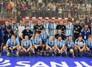 Plantel del seleccionado argentino de handball
