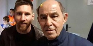 Ricardo Bochini felicitò a Lionel Messi