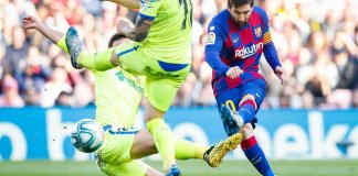 Asistencia de Messi para Barcelona