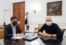 Axel Kicillof y Horacio Rodríguez Larreta se reunieron
