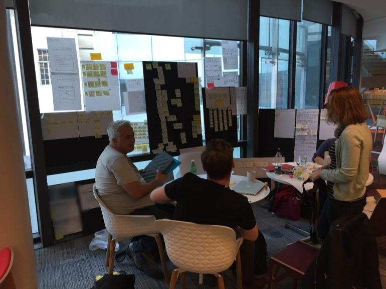 UX designers in the middle of the Design sprint process