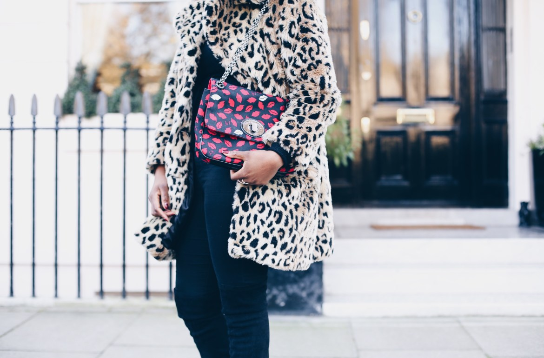 leopard faux fur coat asos