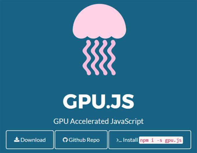 Gpu - 15 Interesting JavaScript and CSS Libraries for September 2017