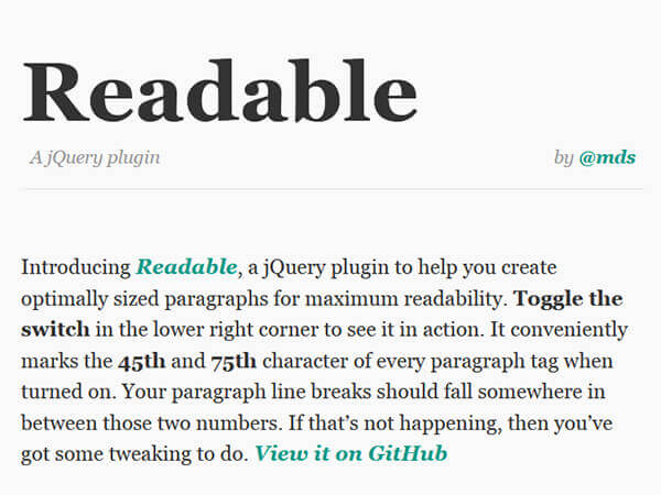 Readable - 15 flashy jQuery plugins