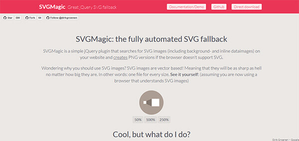 SVGMagic - 15 flashy jQuery plugins