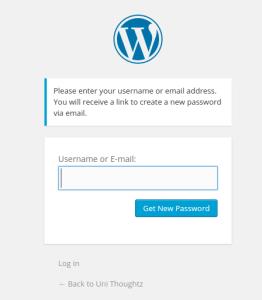wordpress-reset-password