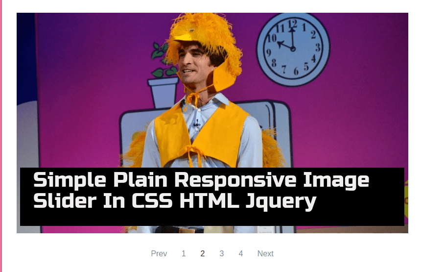 Really Simple Plain Responsive Image Slider In CSS HTML Jquery