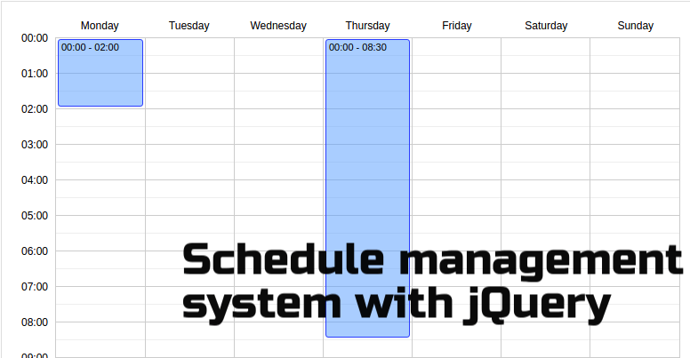 jquery-schedule-plugin