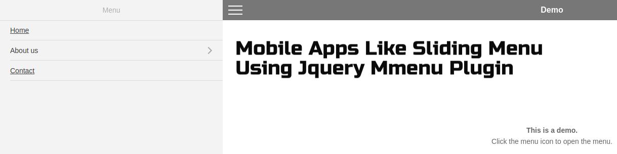 Create Mobile Apps Like Sliding Menu Using Jquery Mmenu Plugin
