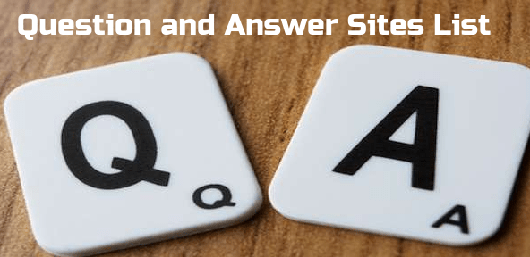 Top 35 High PR Question and Answer Website List For SEO