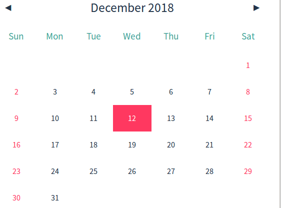 Lightweight and simple calendar in pure JavaScript - Hello