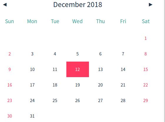 Javascript Calendar.Lightweight And Simple Calendar In Pure Javascript Hello Week