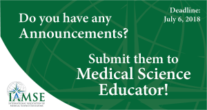 MSE Call for Announcements