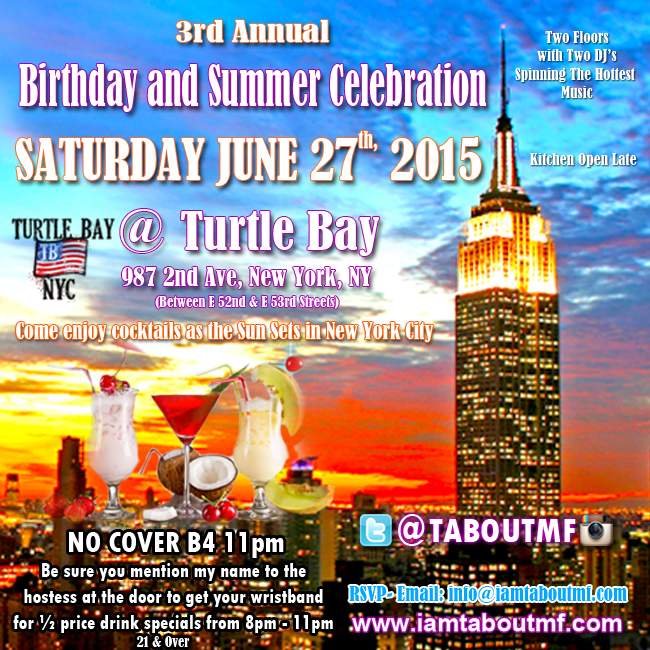 Meet Tabou TMF aka Undefinable One  this Saturday June 27th in NYC