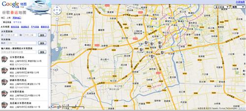 谷歌春运地图