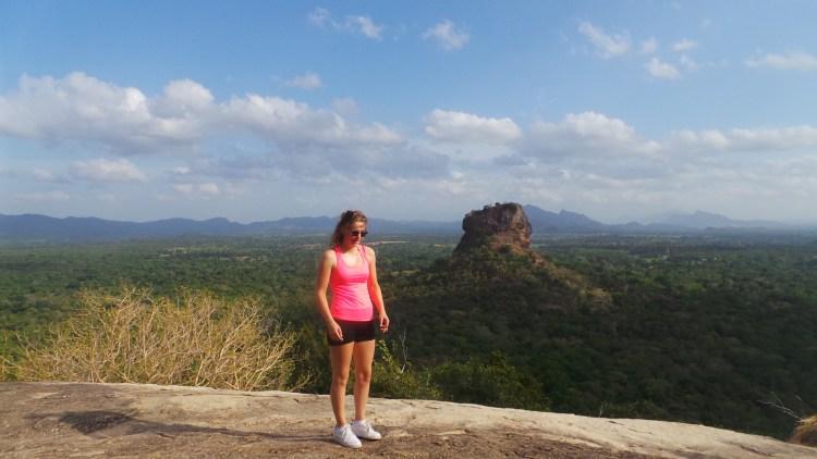 Uitzicht op Sigiriya's Lion Rock