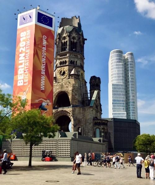 De indrukwekkende Gedächtniskirche in Berlijn
