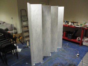 Screen with two coats of white