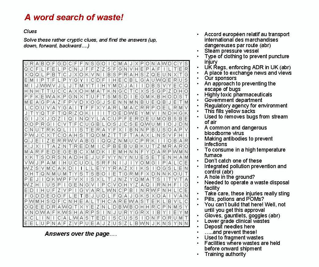 A Word Search Of Waste Blenkharn Environmental