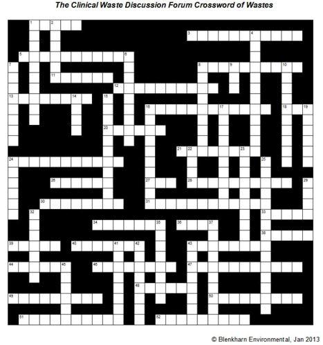 A Crossword of Waste